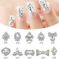 10pcs Crystal Strass Nail Art Stones 3D Decor Charms Rhinestones Jewelry DIY