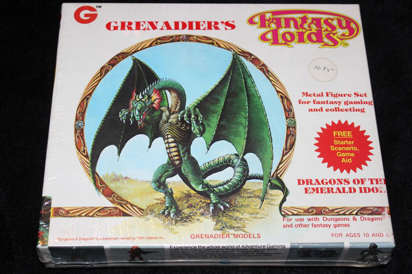 GRENADIER MODELS  FANTASY LORDS, DRAGONS OF THE EMERALD IDOL,  BOX SET