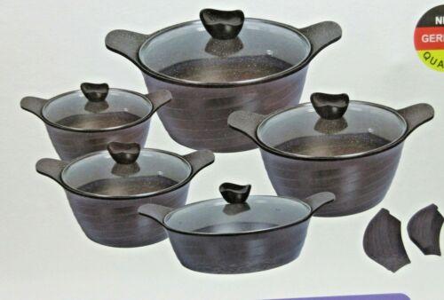10PC Die CAsting NON STICK COOKING PAN POT SET COOKWARE CASSEROLE
