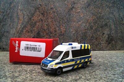 Herpa 094368 MB Sprinter Bus Hochdach Polizei Nordrhein Westfalen 1:87 Neu