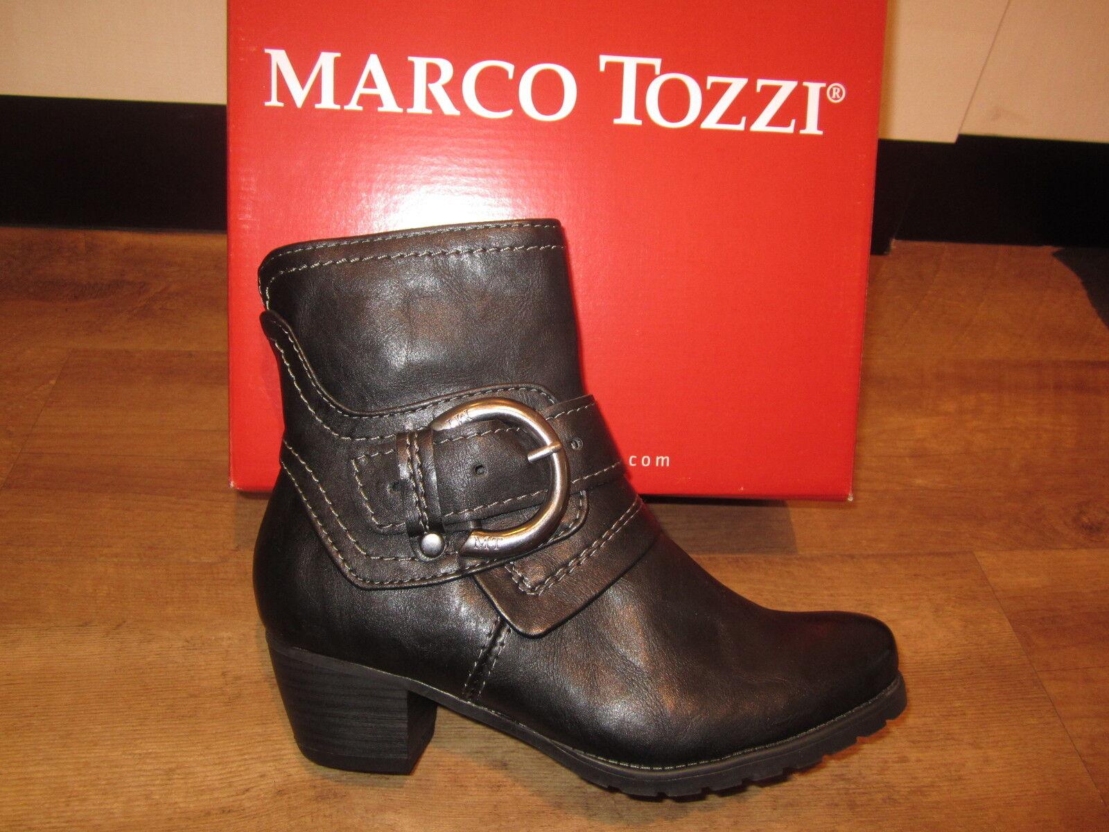 Marco Tozzi Stiefel, Stiefel, Stiefel, Stiefelette, schwarz, leicht gefüttert. RV NEU 6f04fd