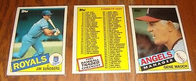 Honkbal 1985 Topps Complete Your Set #s 11-784 You Pick