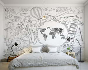 3D Trip Attractions 8 Wall Paper Murals Wall Print Wall Wallpaper Mural AU Kyra