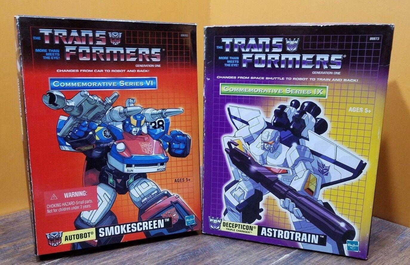 Transformadores Autobot Decepticon Astrotrain cortina de humo la serie conmemorativa Juguete