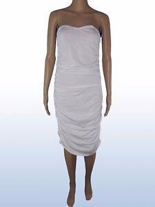 koan-coin-donna-abito-vestito-bianco-stretch-ginocchio-taglia-m-medium