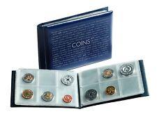 Münzen-Taschenalbum mit 8 Münzblättern für je 6 Münzen, blau    pocketMBL