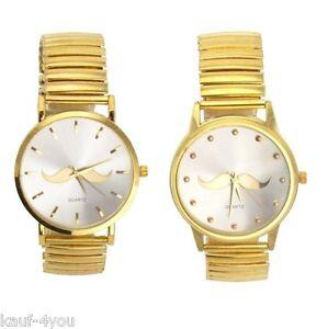 Herren-Armbanduhr-Freizeituhr-Retro-Quart-mit-Schnurbart-verschiedene-Designs