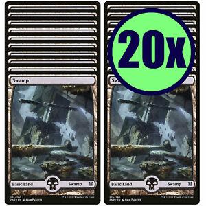 20x SWAMP 274 Full Art Basic Land NM/LP MTG Magic The Gathering Zendikar Rising