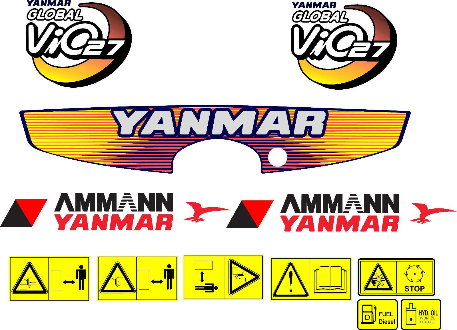YANMAR B50 DIGGER DECAL SET