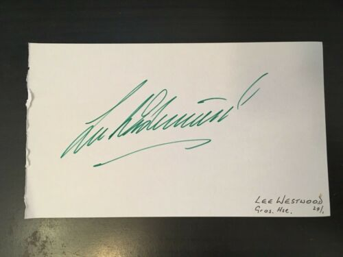 LEE WESTWOOD GREAT BRITISH ER SIGNED ALBUM PAGE