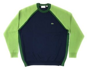 6c92f81de1d0 Lacoste Sweater Men s Size 7 2XL Baseball Jersey Style Blue Green ...