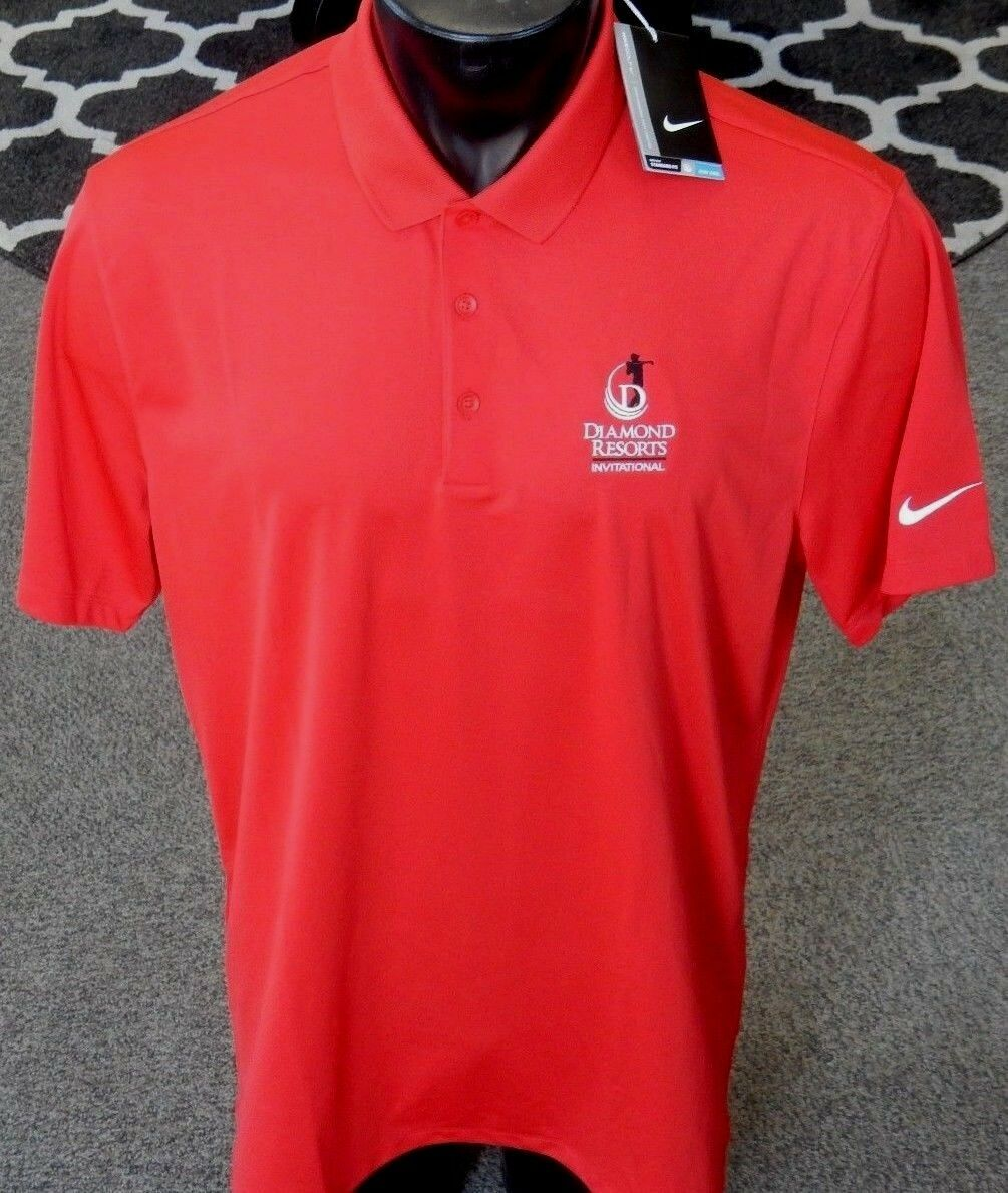 42d0c5cf3 Nike Golf Men s Victory Solid Dri-Fit Polo Shirt 725518 Red Large (L)  ( 12196)
