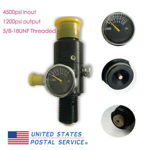4500Psi-1200Psi-Output-Valve-For-Paintball-PCP-HPA-Air-Tank-5-8-18UNF-Portable