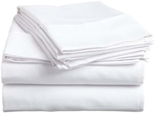 LUXURY BEDDING COLLECTION 100/% COTTON WHITE SOLID 800 TC ALL SIZE
