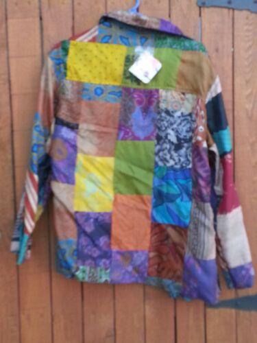 1 Jacket Turkis Reversible 2 I Flerfarvet Silke Kvinders Og 100 tqzv44