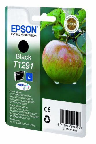 Genuine Epson T1291 Black Ink Cartridge for WorkForce WF-7515 WF-7525 WF-7015