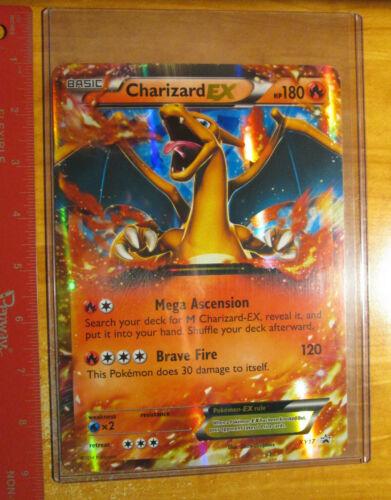 PL JUMBO Pokemon CHARIZARD EX Card BLACK STAR PROMO Set XY17 OVERSIZED Played