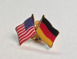 POW MIA and USA Crossed Friendship Flag Lapel Pin **MADE IN USA**