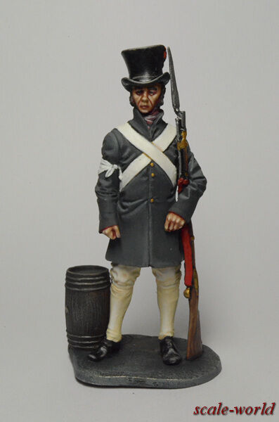 Tin soldier, figure. Revolution of the XIX century. French soldier 54 mm