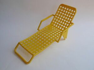 image is loading vintage yellow plastic doll furniture poolside lounge chair - Chaise Retro