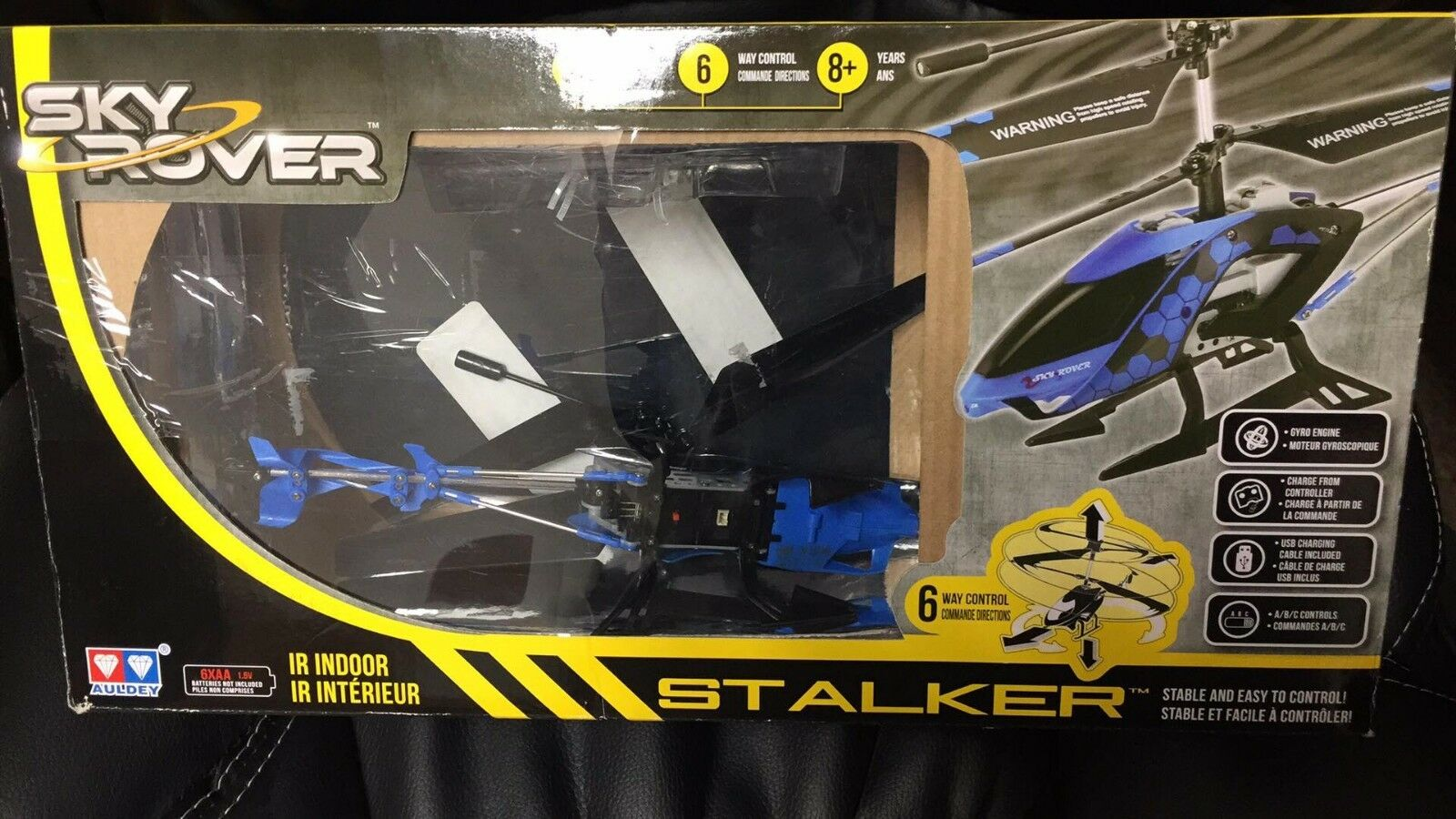 Sky Rover Stalker 3 Channel IR Gyro Helicopter Blue Vehicle 6-way Control C3