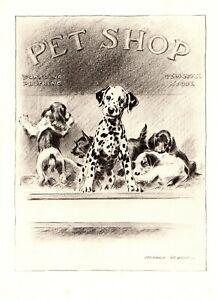 1946-Antique-DALMATIAN-Print-Vintage-Dalmatian-Art-Morgan-Dennis-Dog-Art-3885m