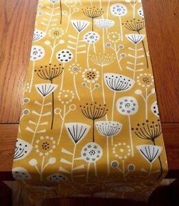 NEUF-36-034-48-034-54-034-64-034-jaune-moutarde-Safran-gris-imprime-floral-fait-main