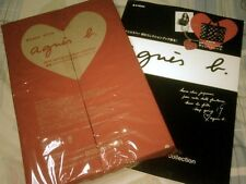Agnes B First Mook – Black Hearts Print Tote Bag + Charm + magazine