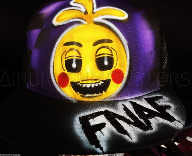 Five Nights at Freddy's toy chica personalized airbrush hat