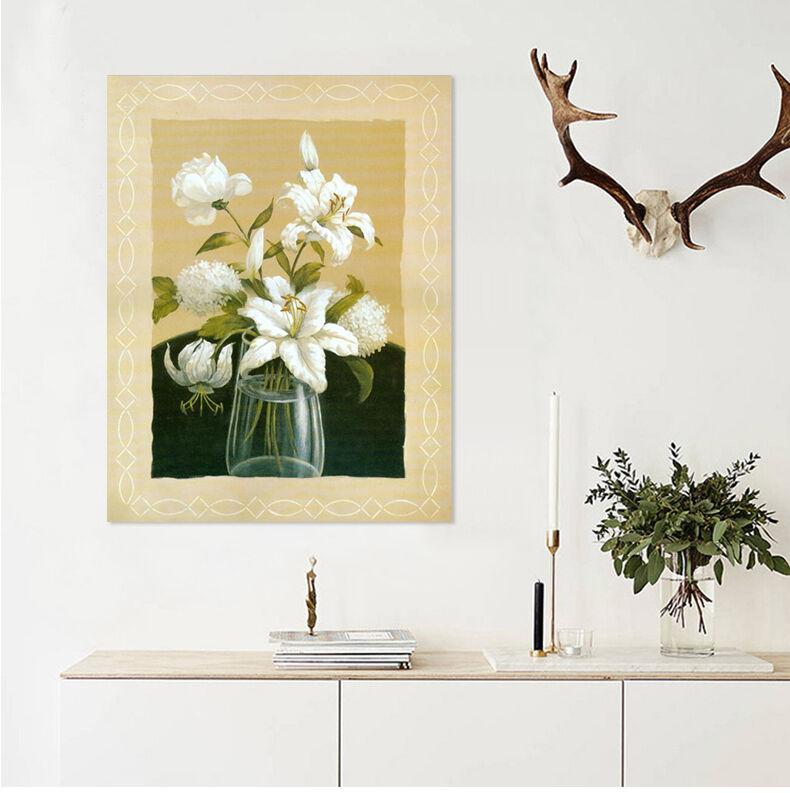 3D Eingerahmt Weiße Blaume 9554 Fototapeten Wandbild BildTapete AJSTORE DE Lemon