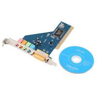 4 Channel 5.1 Surround 3D PCI Sound Audio Card for PC Windows XP/Vista/7 Hot  F7