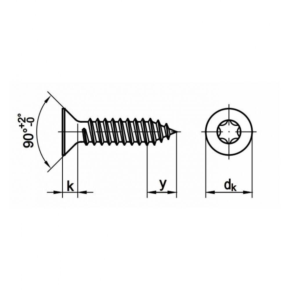 250x 250x 250x ISO 14586 Senkkopf-Blechschrauben mit Innensechsrund C 6.3 x 60 A2 blank | Ästhetisches Aussehen  4cbbb7