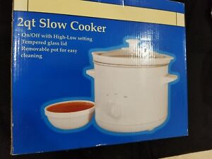 Image Is Loading NEW In Box 2 Qt Slow Cooker Round