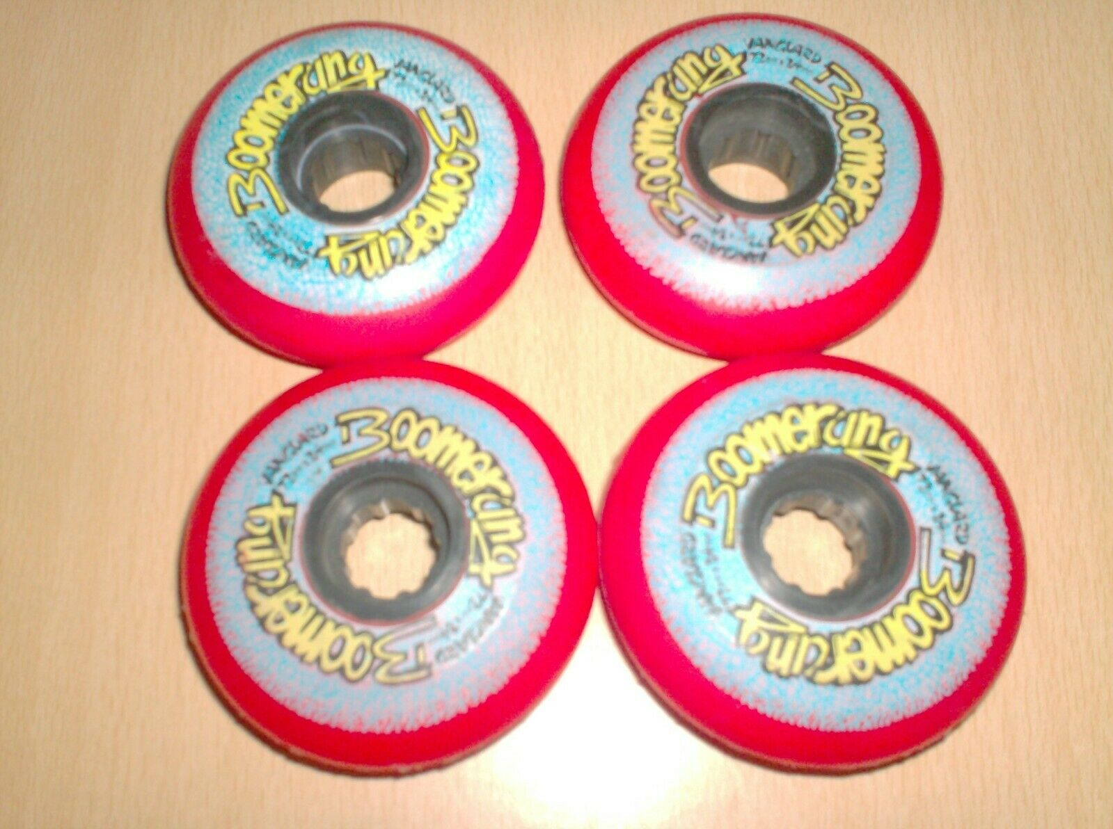 Vintage rollerblade wheels - set  of 4 - boomerang vanguard red new nos 1980  choose your favorite
