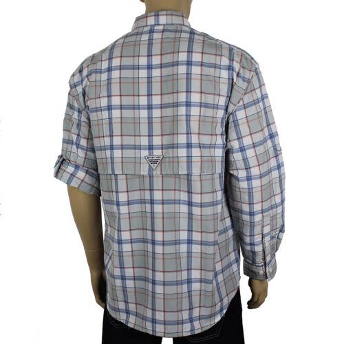 """New Mens Columbia PFG /""""Super Bahama/"""" Omni-Shade Vented Fishing Long Sleeve Shirt"""