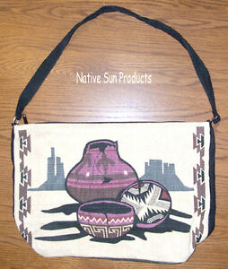 Image Is Loading Purse Handbag Southwest Navajo Pottery Design 13x19 034