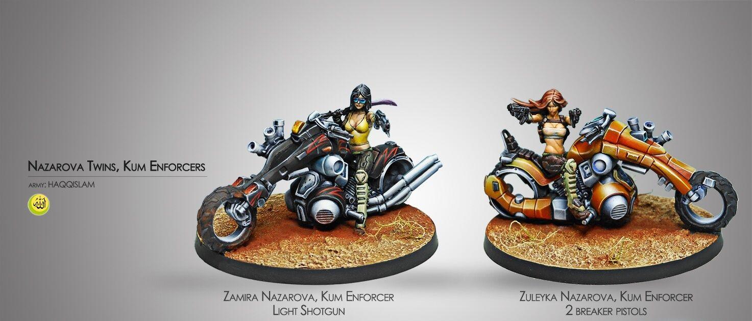 INFINITY - The Nazarova Twins, Kum Enforcers (Haqqislam)  Corvus Belli