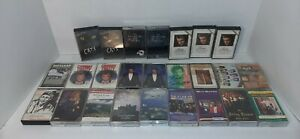 Lot-of-25-Vintage-Cassette-Tapes-With-Cases-Elvis-Presley-Conway-Twitty-Cats
