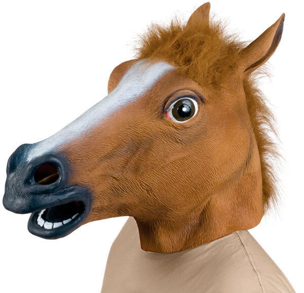 New Horse Head Mask Latex Costume Prop Gangnam Style Toys Party Halloween feel