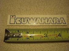 2 - NOS KUWAHARA BMX OLD SCHOOL STICKERS DECALS 20 24 KZ ET NOVA LASER LITE !