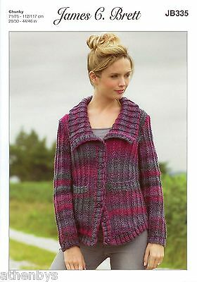 James Brett JB335 Knitting Pattern Ladies Jacket to knit in Marble Chunky