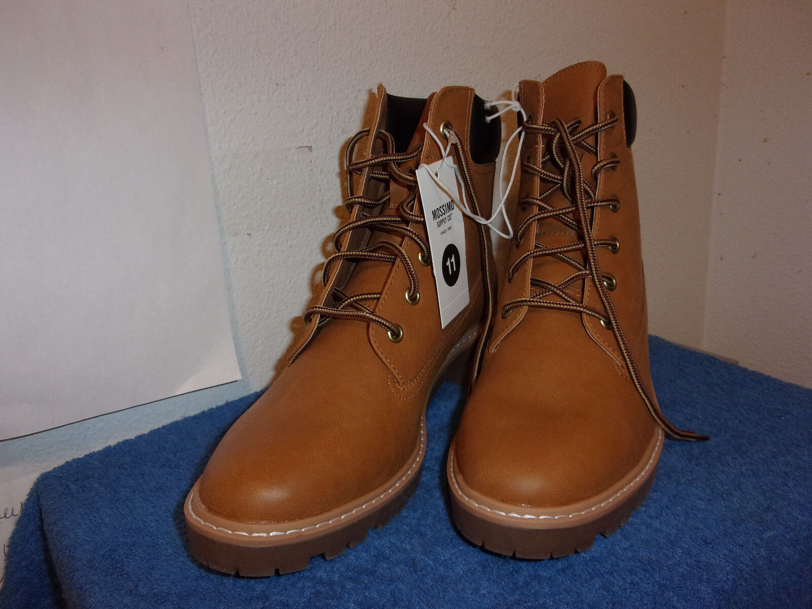BRAND NEW LADY'S MOSSIMO LACE-UP,HIKING,WORK STYLE BROWN BOOTS