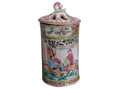 pot à pinceaux en canton époque XIXème