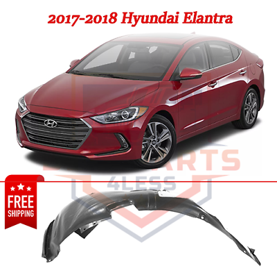 Fender Liner Compatible with 2017-2018 Hyundai Elantra Plastic Front Driver Side