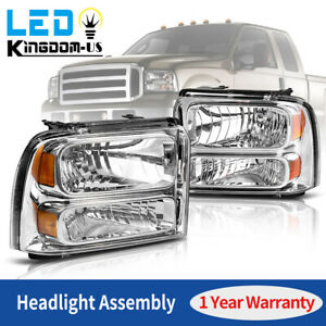 For 2005-2007 Ford F250 F350 F450 F550 Super duty Headlights Left+Right 05 06 07