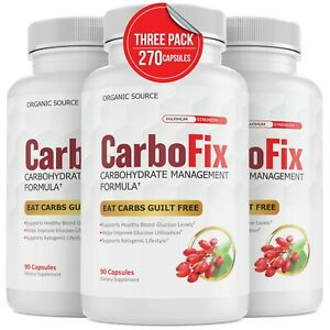 Carbofix Advanced Carbohydrate Management Formula Diet Pills Weight Loss Keto