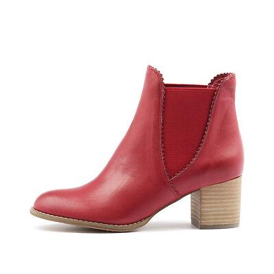 New Django & Juliette Sadore Red Womens Shoes Dress Boots Ankle