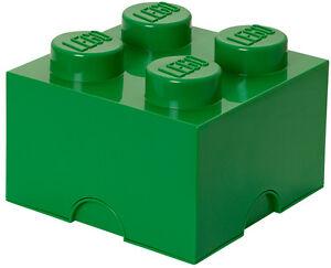 LEGO Storage Brick XL GRÜN Stein 2x2 Aufbewahrung Dose Box Kiste 4 Knobs GREEN