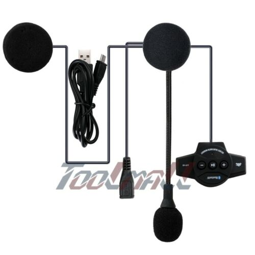 Rechargeable Motorcycle Bluetooth Helmet Intercom FM Radio BT8 Headset 4.0+EDR