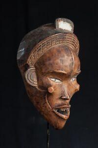 Bakongo Face Mask, D.R. Congo, African Tribal Art